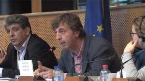 Vassilis Tsartsanis at the European Parliament.